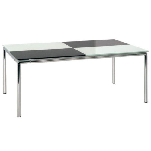 Buy Chrome Coffee Table Legs: Checked Glass Top Coffee Table With Chrome Legs