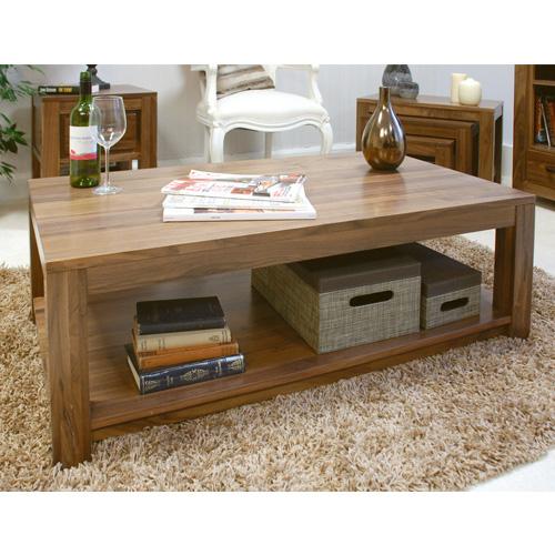 Low Dallas Dark Walnut Wooden Coffee Table
