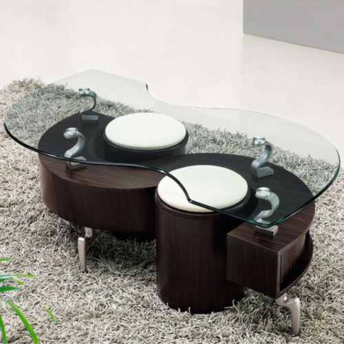Lucca Contemporary Glass Coffee Table In Brown Buy Coffee Tables