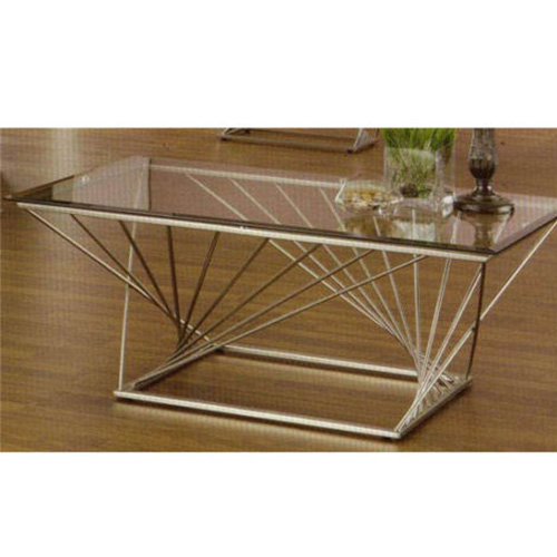 Rectangular contemporary metal sculpture base coffee table for Buy cheap coffee table online