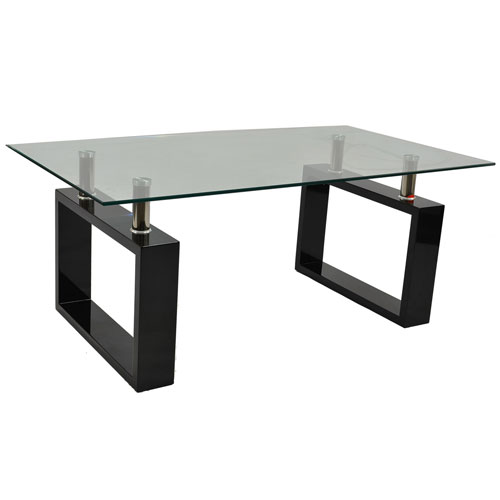 Monza Contemporary Rectangular Glass Coffee Table In Black Buy Coffee Tables Online Discount