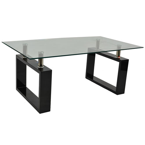 Monza contemporary rectangular glass coffee table in brown for Buy modern coffee table