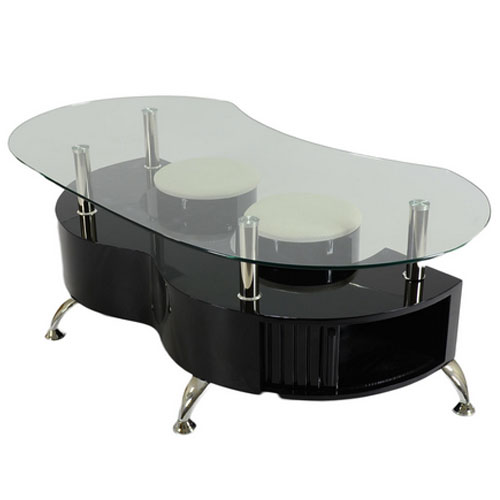 Funky Palermo Contemporary Glass Coffee Table In Black Buy Coffee Tables Online Discount