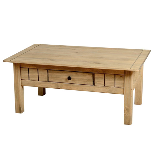 Solid Waxed Farmhouse Pine Coffee Table ...