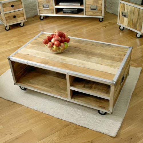Urban Atlanta Wooden Coffee Table With Wheels Buy Coffee Tables