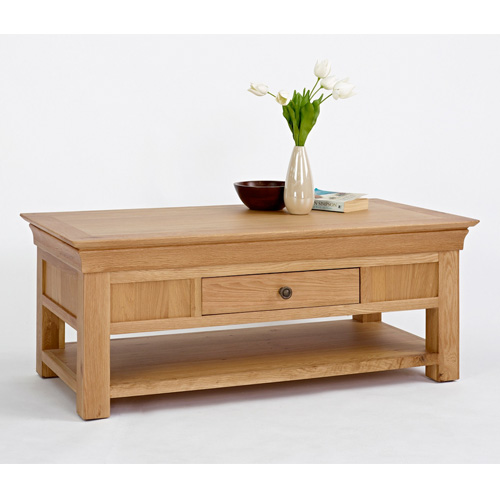 Vermont chalet wooden coffee table buy coffee tables for Cheap oak coffee table
