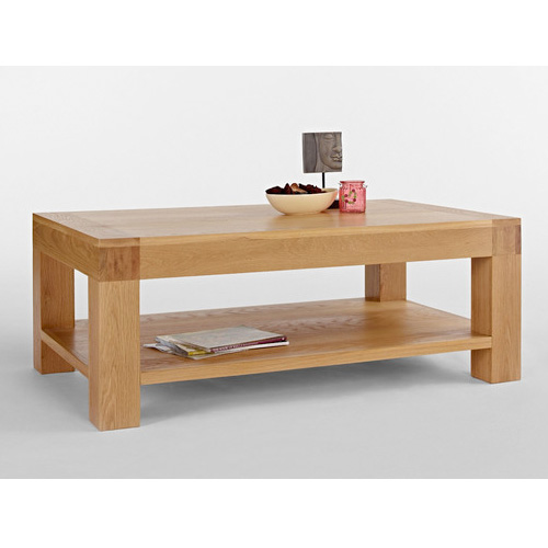 napa blonde clean rectangular wooden coffee table