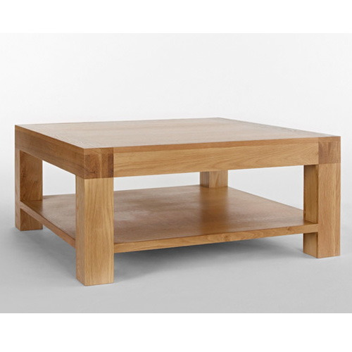 nevada square chunky blonde wooden coffee table